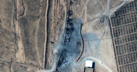 Syria: American retaliatory attack in the East.  Satellite images