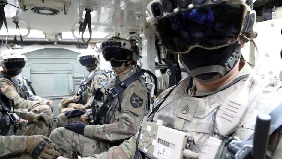 The US Army is developing new equipment.  Soldiers are allowed to see walls