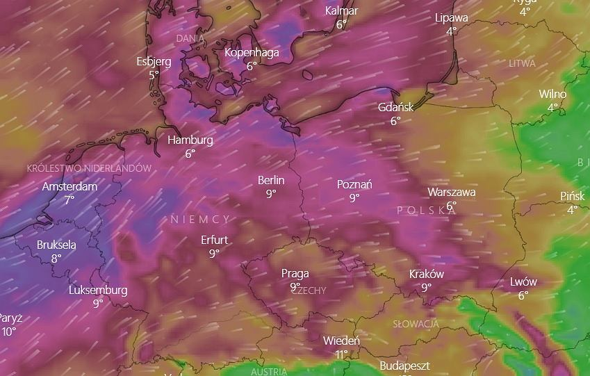 the weather.  IMGW warns of strong winds.  Even on Friday, it can blow with a force of up to 90 km / h