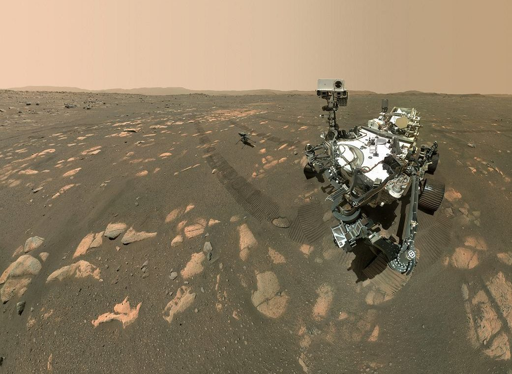 NASA Perseverance snapped a selfie on Mars.  The versatility of the drone is visible in the frame