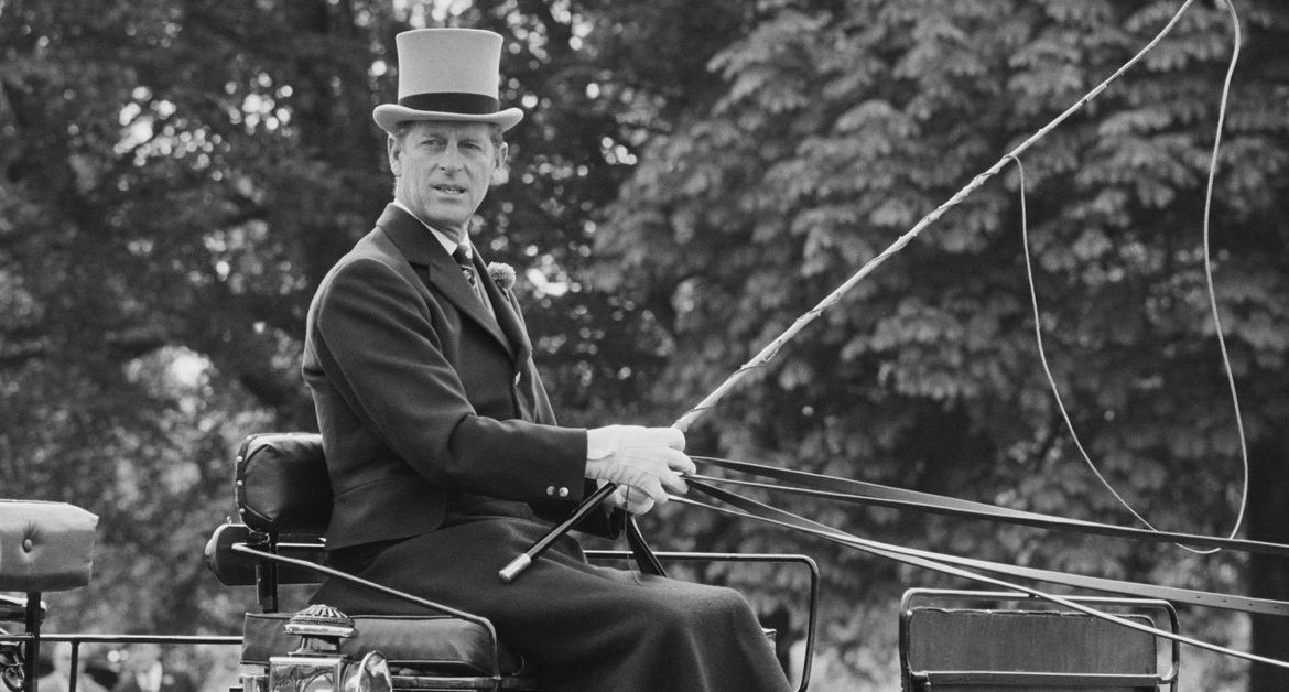 Prince Philip competed in Sopot in a horse-drawn carriage driving competition.  Date