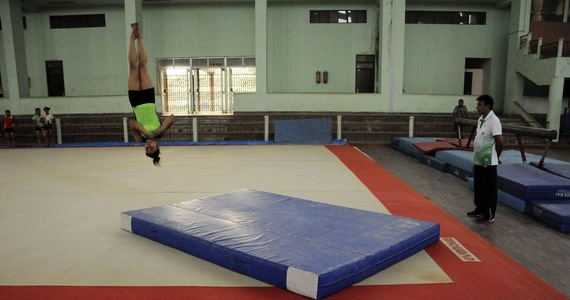 Me in gymnastics.  The second gold medal for the award