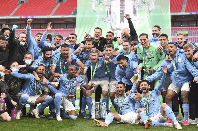 The joy of Manchester City / PAP / EPA players