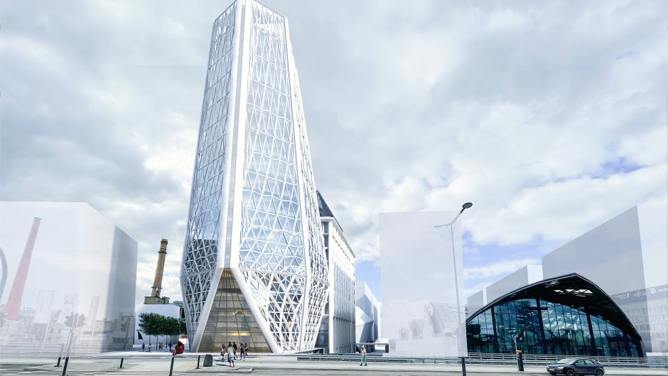 Although the project did not win, it is impressive.  This is the new Lodz City Hall according to the AGG Group