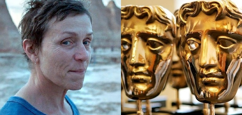 BAFTA distribution 2021. Nomadland and Netflix honored with a small number of awards