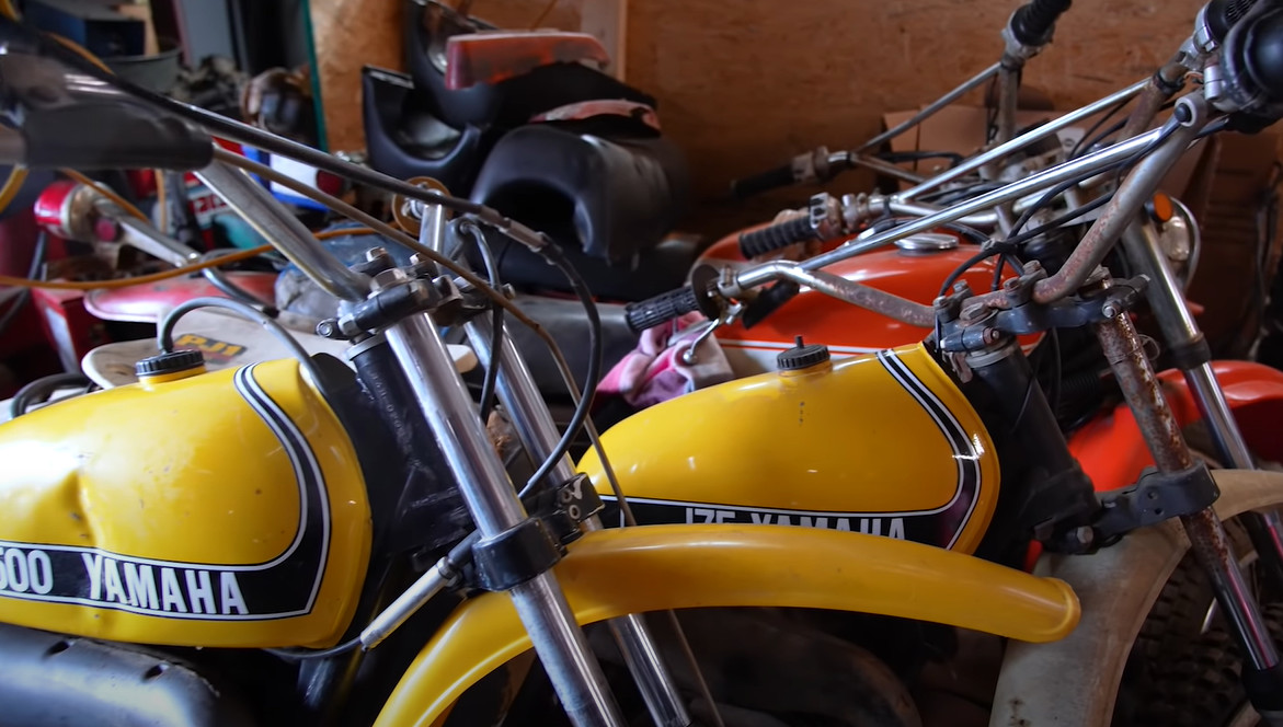Barn Find Hunter is looking for rare and unusual cars.  But this time he found ... motorcycles [FILM]