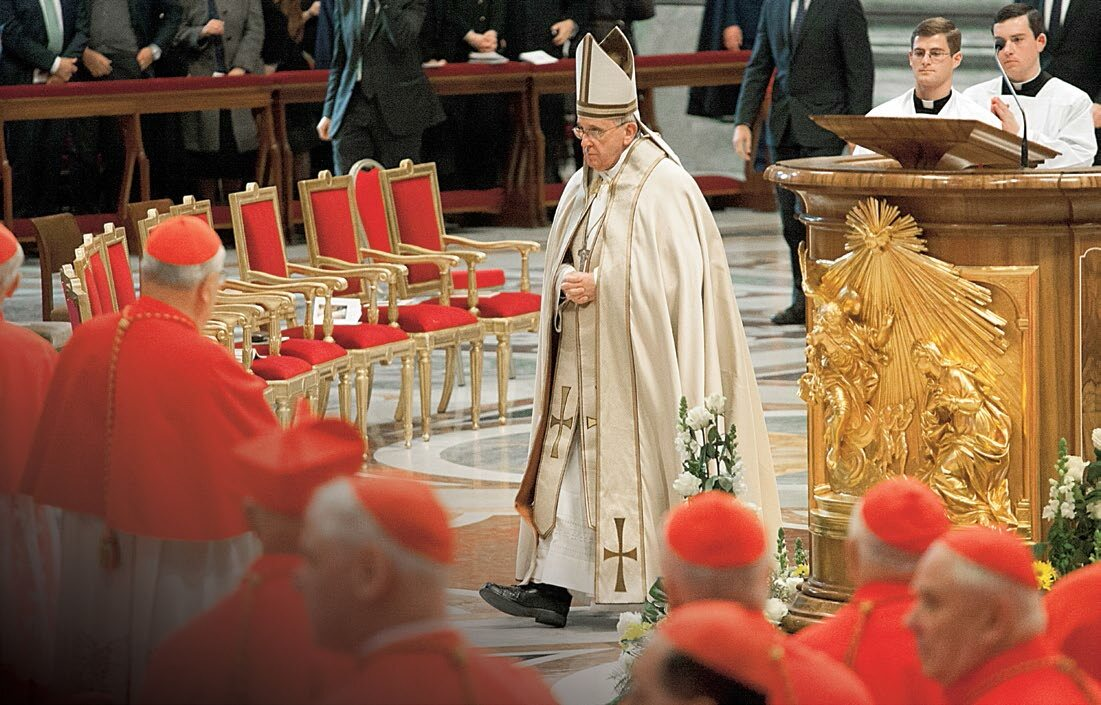 Francis will celebrate mass at the relics of the saint.  Faustina and St.  John Paul II