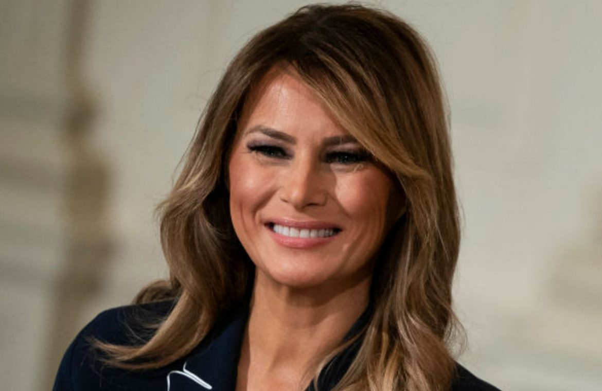Happy Melania Trump.  New photos of the former first lady of the United States