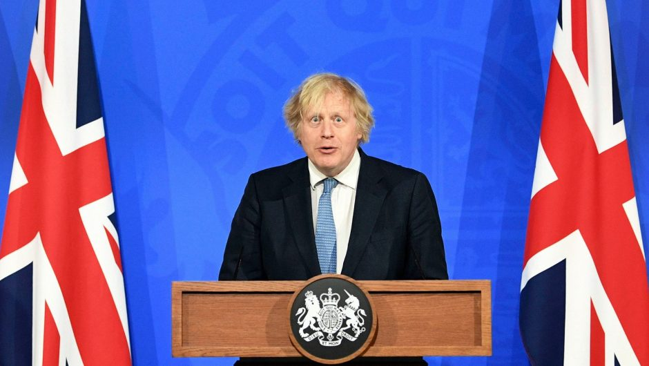Johnson announces easing of restrictions.  The British government will open bars, gyms and hairdressers