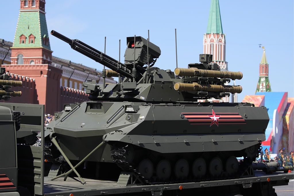 Russia has created the first military unit armed with dangerous robots