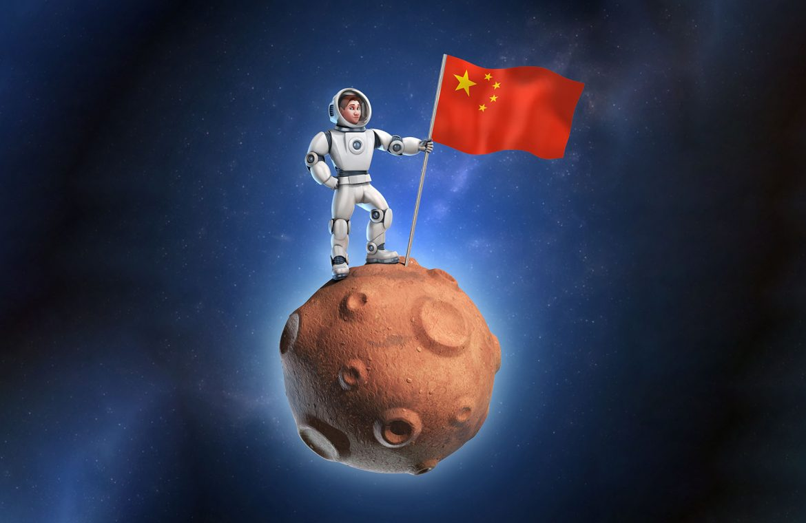 The Americans have already left the solar system.  The Chinese will be in second place
