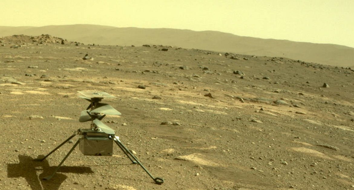 Unmanned flight to Mars.  Creativity rose above the surface of the planet