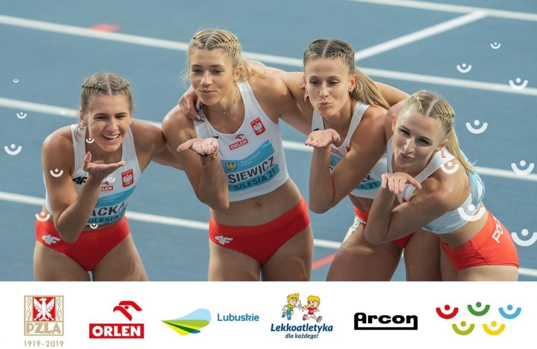 Lubuszanki Kornelia Lesiewicz and Natalia Kaczmarek led the Polish national team to win a silver medal in the World Relay Championship!  Well done!