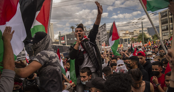 They are in solidarity with the Palestinians.  Appearances in Europe