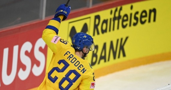 Elite World Hockey Championship.  The Swedes crushed the Swiss national team in the Group A match