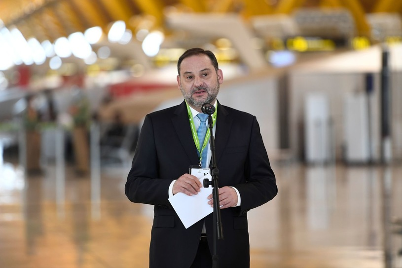 Spanish Minister of Transport, Mobility and Urban Agenda Jose Luis Abalos / AFP