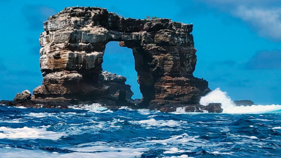 "Galapagos Islands.  Darwin's arc has collapsed.  We are now talking about ""pillars of evolution."""