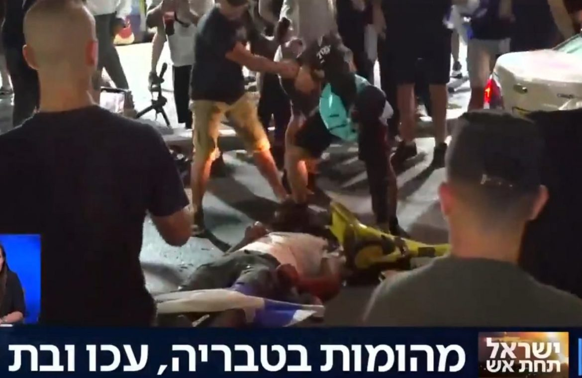 """Israel.  Street riots.  Journalists write about """"lynchings"""" and looting of Arab stores 