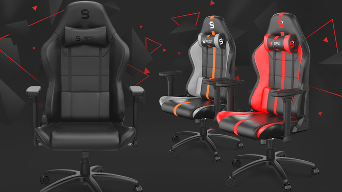 SPC Gear SR400 - A new series of gaming chairs is now on sale.  Several colors and versions with fabric or PU leather [1]