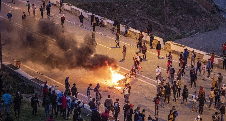 Spain.  Moroccan immigrants attacked Ceuta [ZDJĘCIA]