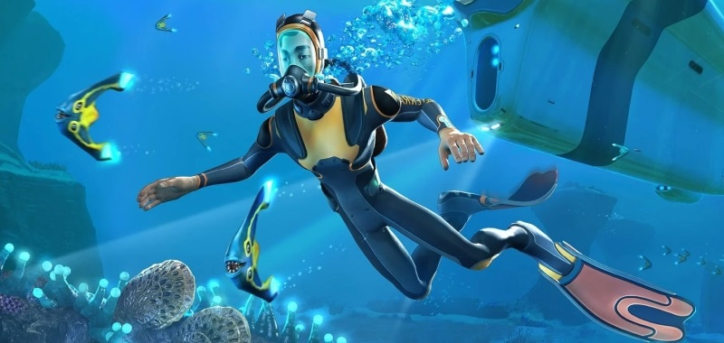 Subnautica for PS5 at 60 frames per second and with significantly reduced game volume.  See the comparison