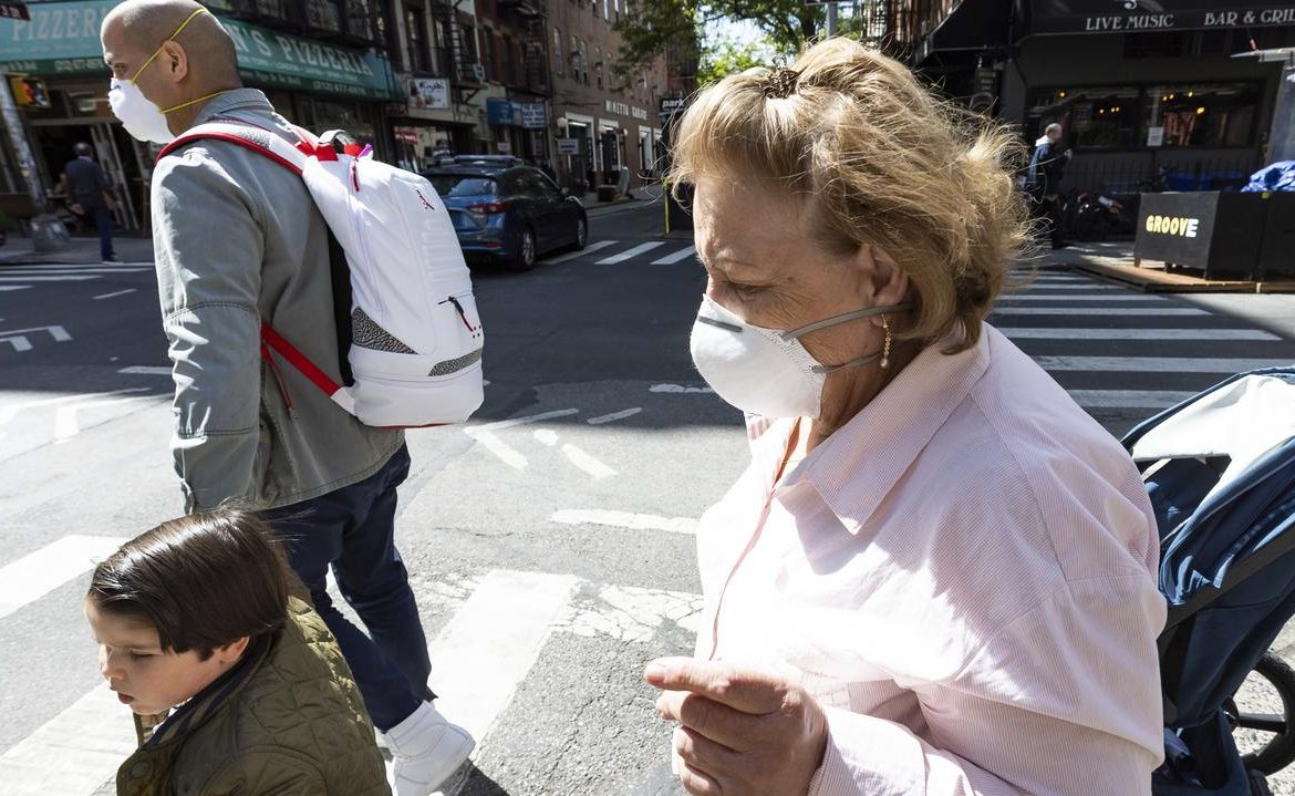 United States of America.  Vaccinated Americans can remove their face masks in many places