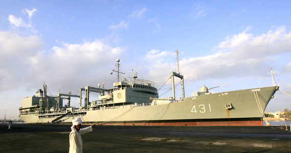 The largest ship of the Iranian Navy sank