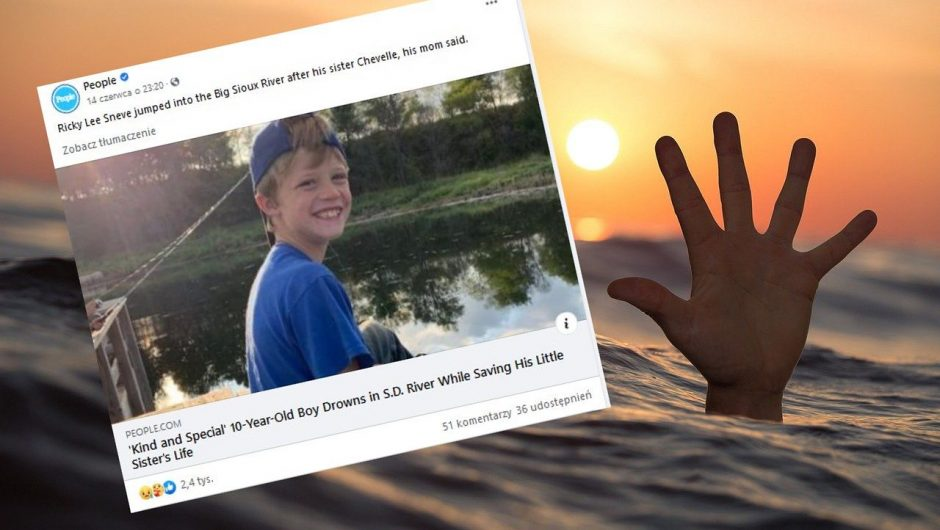 A 10-year-old boy from the United States drowned while saving his 5-year-old sister