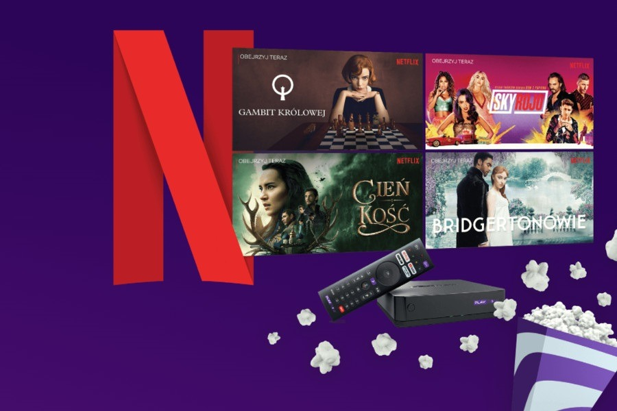 Netflix as a gift from Play for 12 months