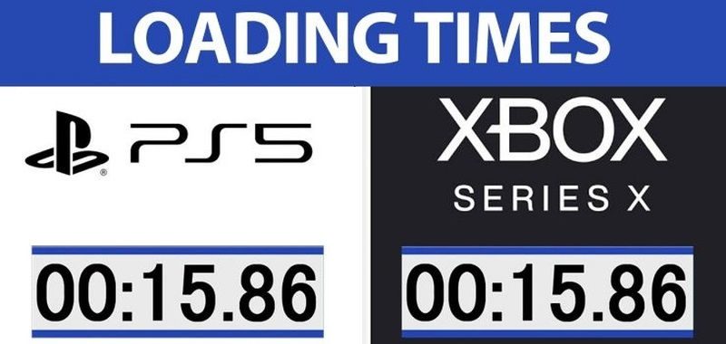 Comparison of PlayStation 5 and Xbox Series X at full speed.  The test highlights the advantages of both systems