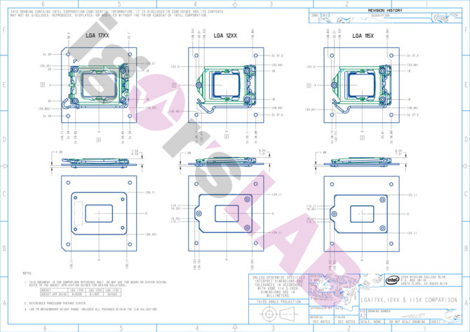 LGA1700 socket for Intel Alder Lake chips comes out in pictures and diagrams.  The new wing has no more secrets for us [5]