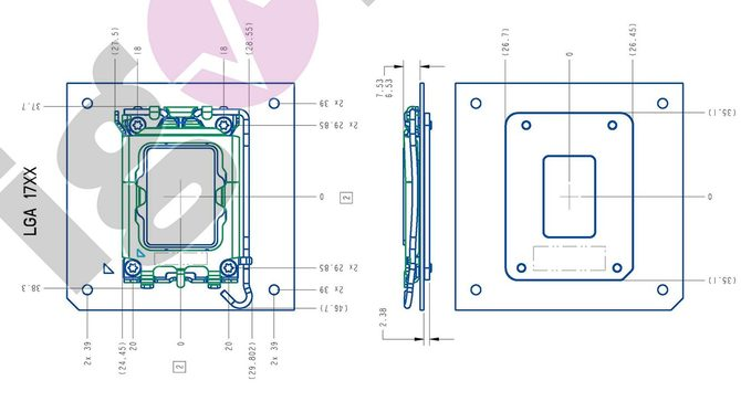 LGA1700 socket for Intel Alder Lake chips comes out in pictures and diagrams.  The new wing has no more secrets for us [8]