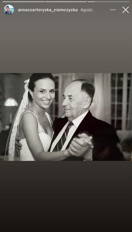 Anna Czartoryska-Niemczycka remembers her deceased father on Father's Day