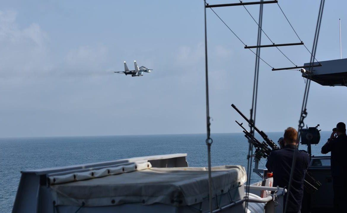 Black Sea.  Holland: The frigate was infested by Russian planes.  Russia responds