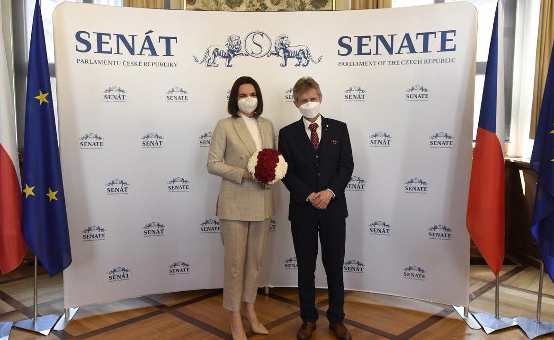 Czech Republic.  Swiatłana Cichanouska demands sanctions against Belarus, but will not return to Belarus