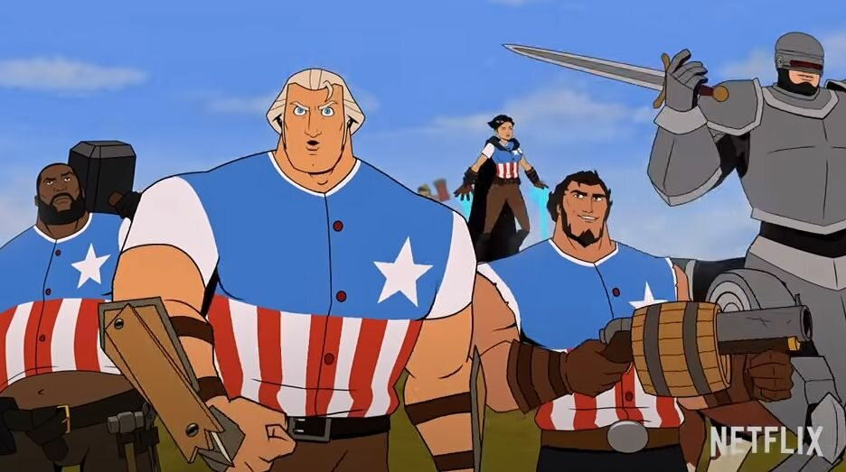 """Film."""" The Animated Washington Fights for the United States"""