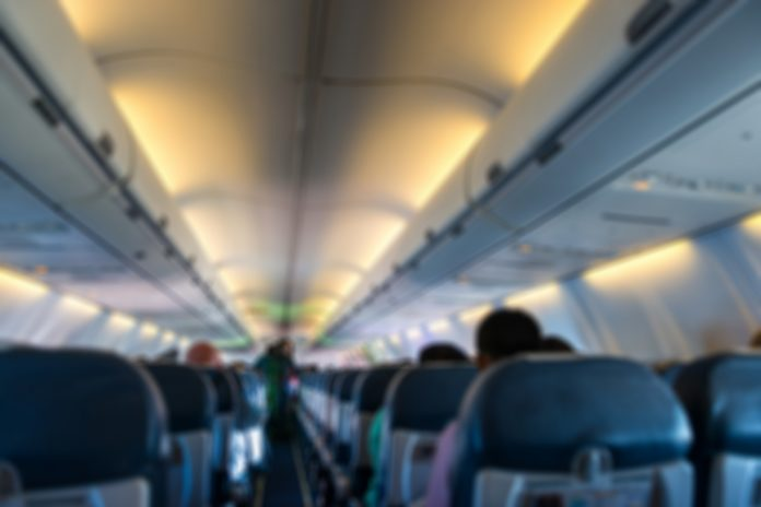 People sitting on the plane