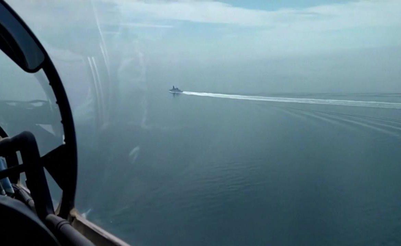 HMS Defender.  Black Sea incident.  BBC journalist account