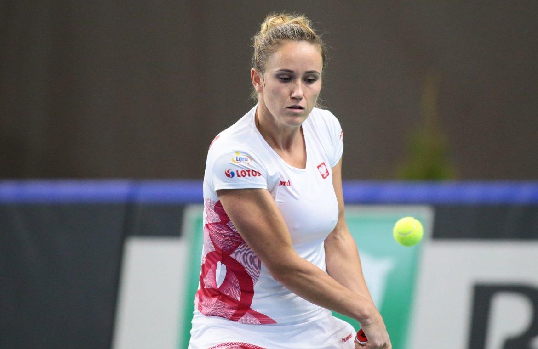 Katarzina Kawa checked the form before Wimbledon.  Two matches in Nottingham