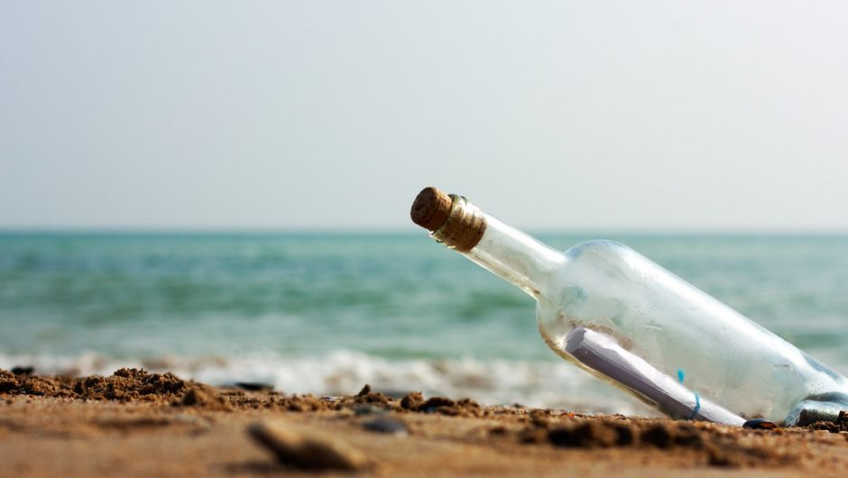 Portugal.  A teenager found a bottle with a message thrown into the Atlantic Ocean in the United States in 2018.