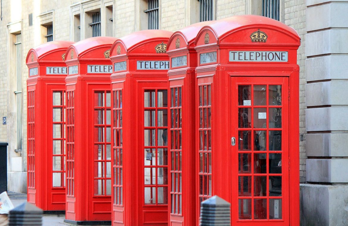 Revolution in Great Britain.  New use of old phone boxes - O2