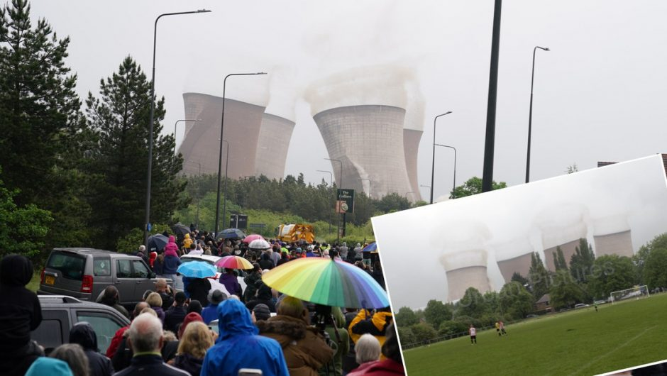 United Kingdom: Game halted due to demolition of concrete towers in Rugeley [WIDEO]