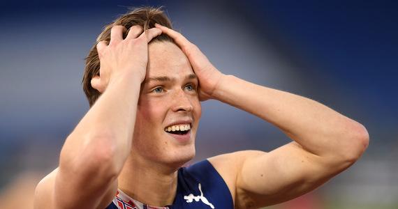 Athletics.  Karsten Warholm with a world record
