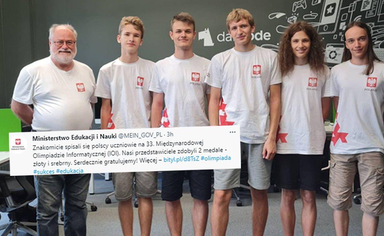 Polacy wśród nagrodzonych (fot.TT/Ministerstwo Edukacji i Nauki)