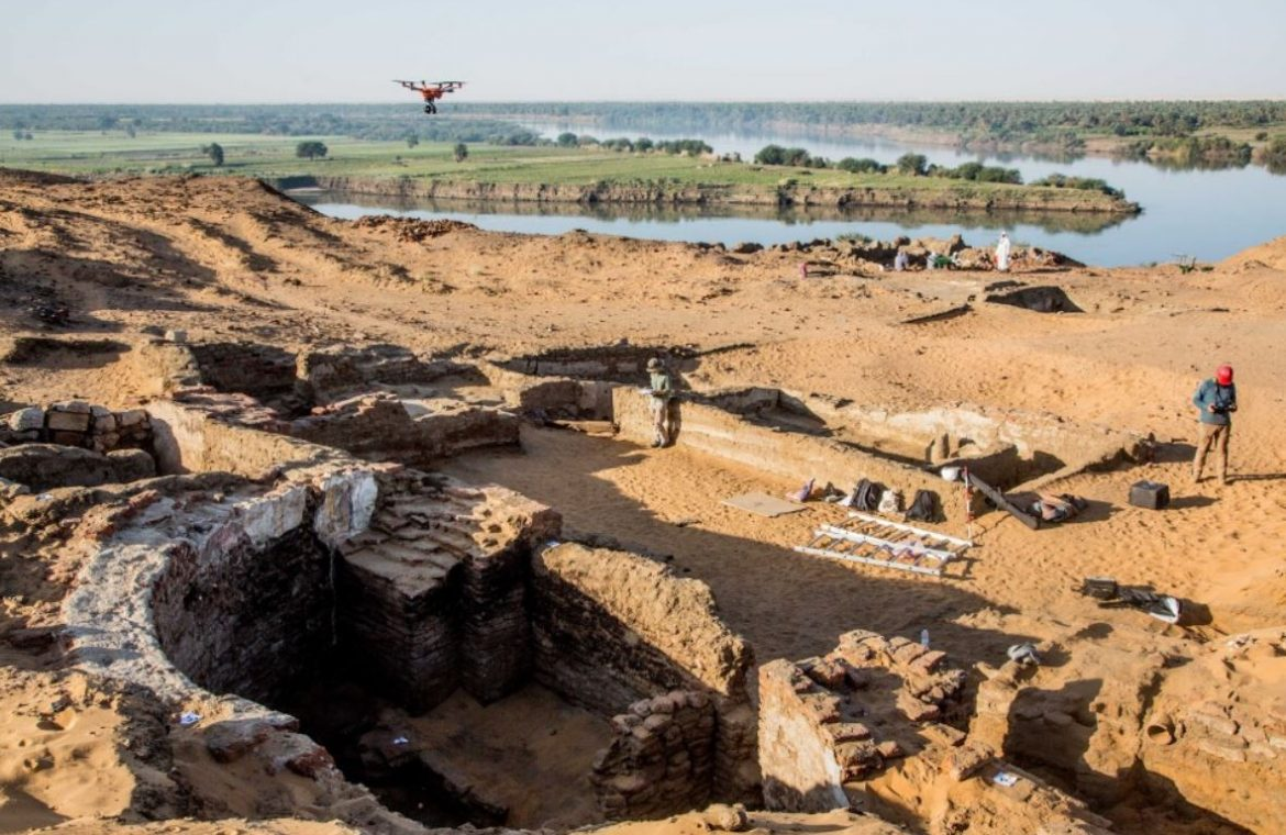 Ruins of a huge church associated with the medieval Nubian kingdom found in Sudan