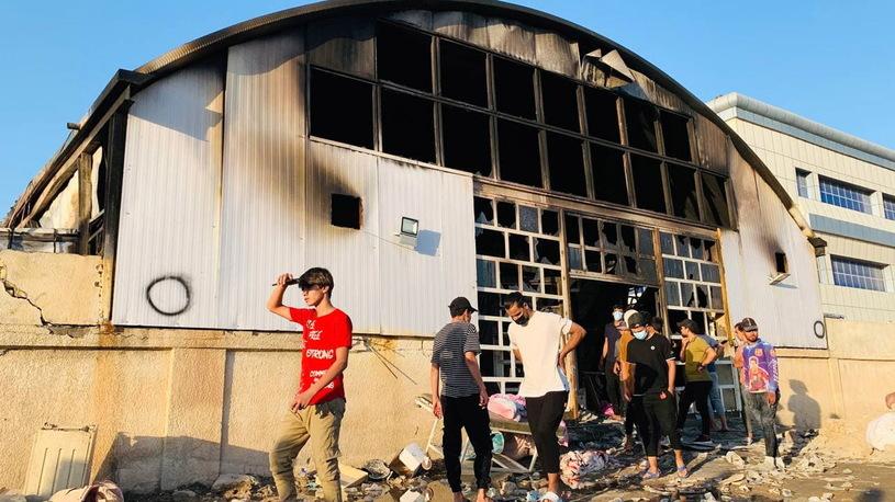 Hospital fire in Iraq / PAP / EPA / HAIDER AL-ASSADEE / PAP