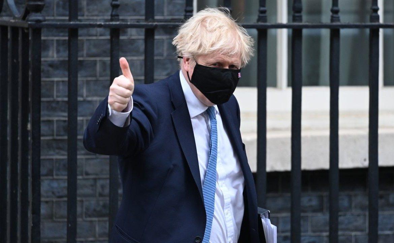 Lider Partii Konserwatywnej i premier Wielkiej Brytanii Boris Johnson (fot. Kate Green/Anadolu Agency via Getty Images)