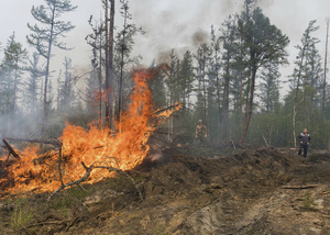 Giant fires in Russia.  Flights and freight suspended
