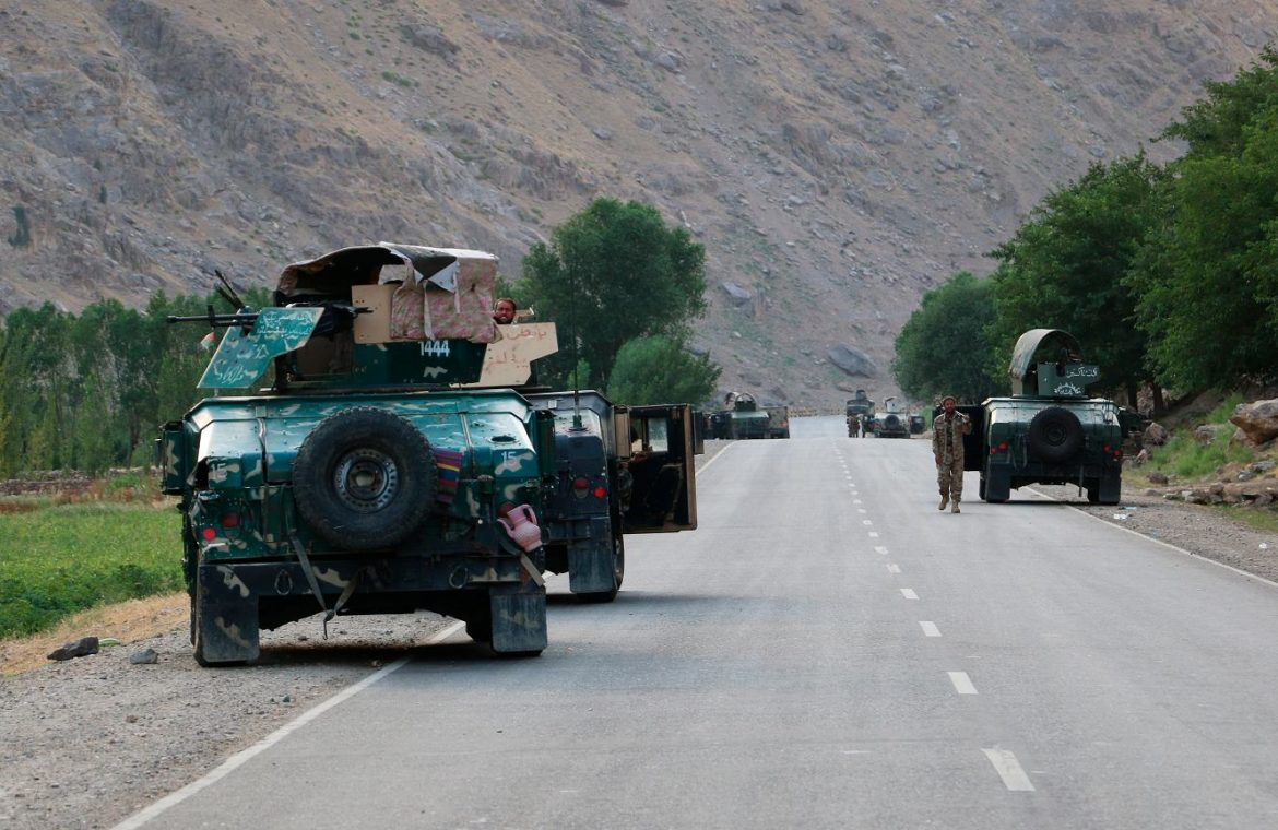 Afghan soldiers fleeing the Taliban.  Russia is concerned about the situation.  The Kremlin spokesman will speak