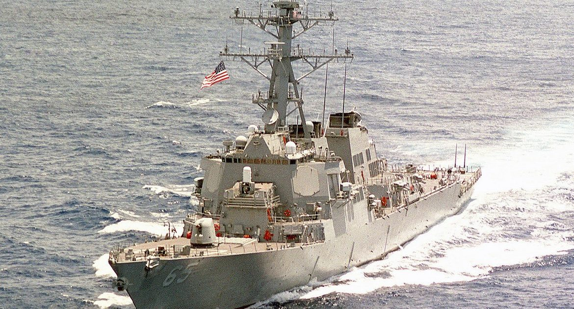 Asia.  The clash between the United States and China in the South China Sea